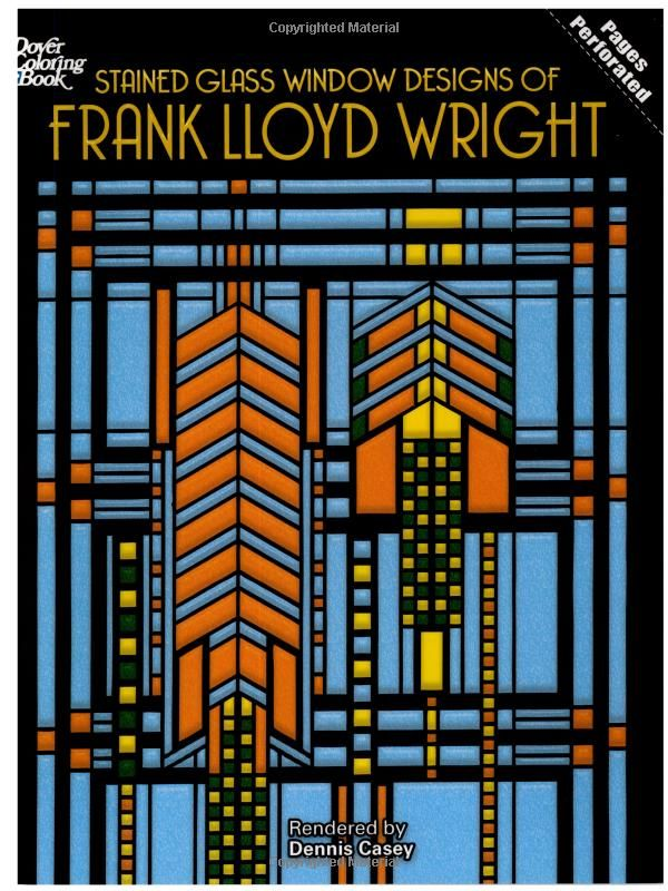 Frank Lloyd Wright Stained Gl Coloring Book | Coloring Pages