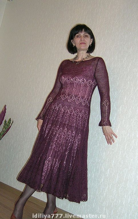 "Купить Платье ""Кармен"" - платье, вязаное платье, мохеровое платье, вечернее платье, нарядное платье"