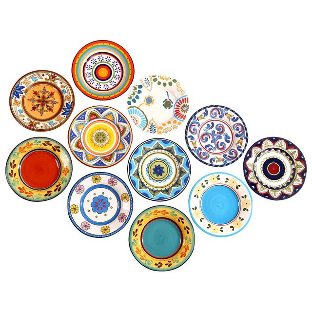 Special price Hot Exotic Hand-painted Moroccan Italy Bohemian Style Dinner Plate 8.5 Inch Colorful Salad Plates Dining Decoration Plate Gifts just only $18.82 with free shipping worldwide  #dinnerware Plese click on picture to see our special price for you