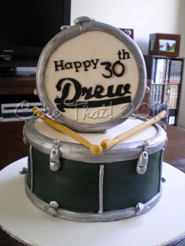 Drum Cakes Ideas | The cake was a surprise for Drew- who looked mighty happy when I ...