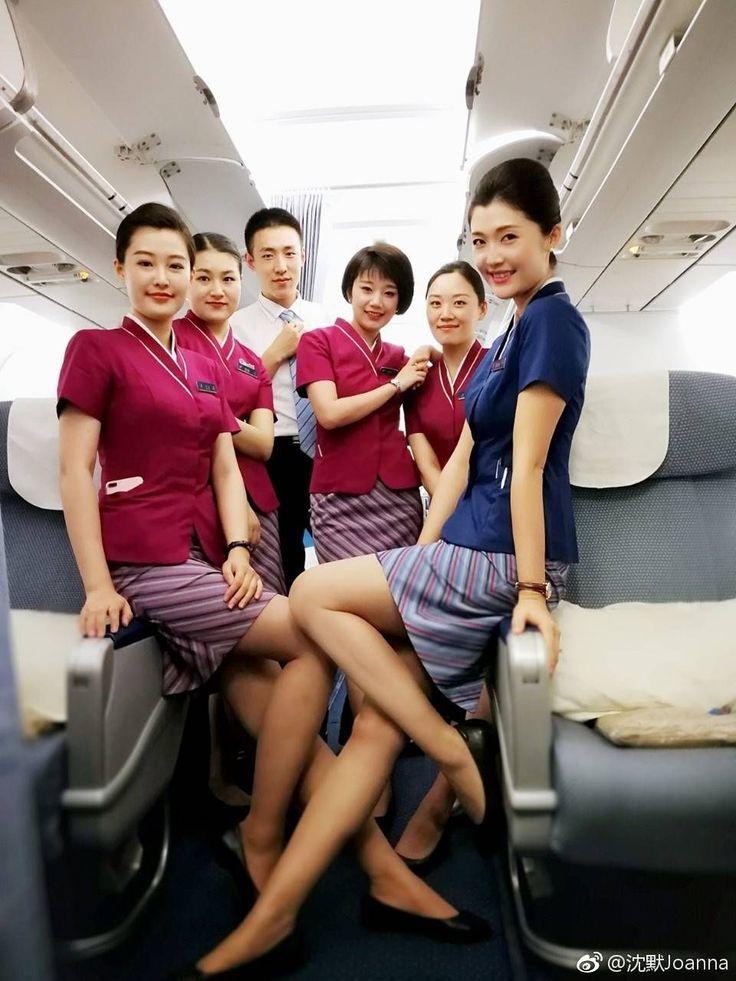 Women flight attendant clips — photo 10