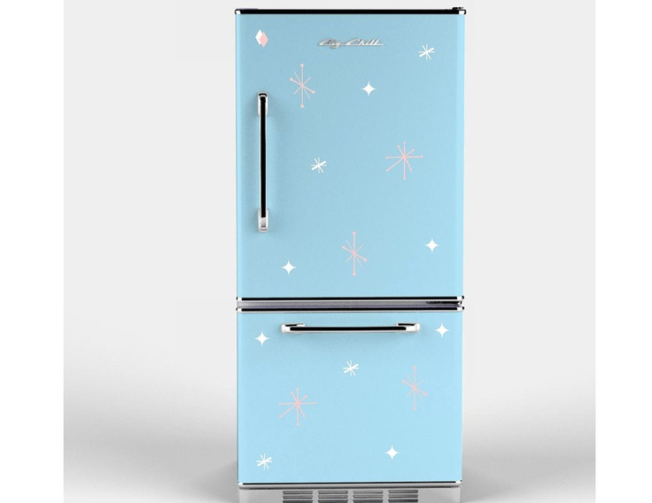Retro Stars Appliance Decals For Your Refrigerator