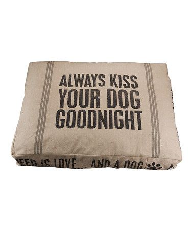 'Kiss Your Dog' Dog Bed