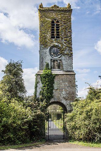 Clock Tower In St. Annes park, Dublin, Ireland