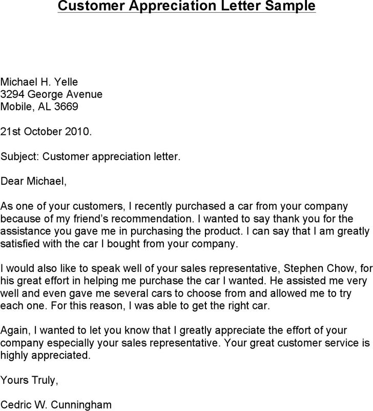 customer thank you letter template free download speedy client - customer thank you letter