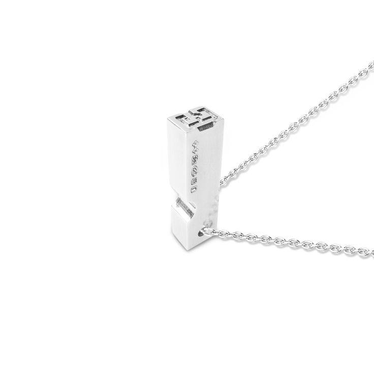 Sterling Silver Letterpress Pendant
