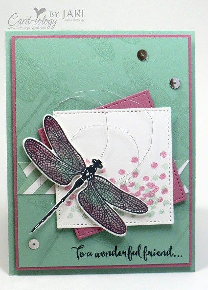 Happy New Year! I am featuring Dragonfly Dreams from the Stampin' Up! Occasions 2017 catalog today. Only 3 more days until you may begin ordering from the Occasions catalog. Yippee!! Dragonfly Dreams