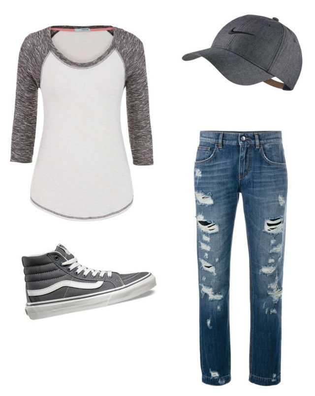 """""""summer ~ tomboy"""" by anissa-c on Polyvore featuring maurices, Dolce&Gabbana, Vans and NIKE"""