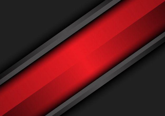 Abstract Red Slash On Dark Grey Metallic Design Metal Design Abstract Design