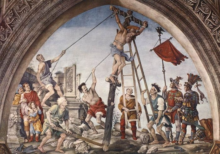 Crucifixion of St Philip by LIPPI, Filippino #art