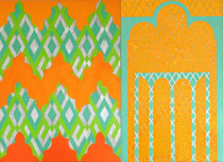 Come Closer 2, 2007 by Mari Rantanen. Acrylic and pigment on canvas. For sale, inquiries: sari.seitovirta@seitsemanvirtaa.com / GALERIE SEITSEMÄN VIRTAA