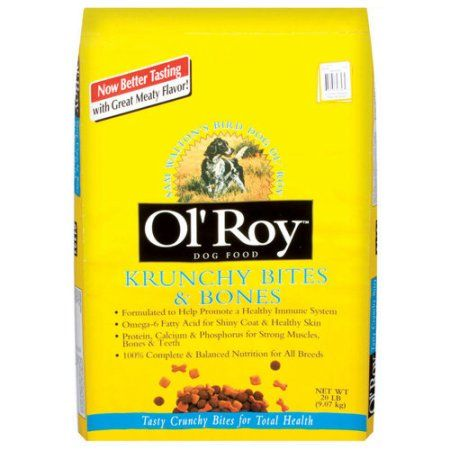 Ol' Roy: Dog Food Krunchy Bites & Bones, 20 Lb
