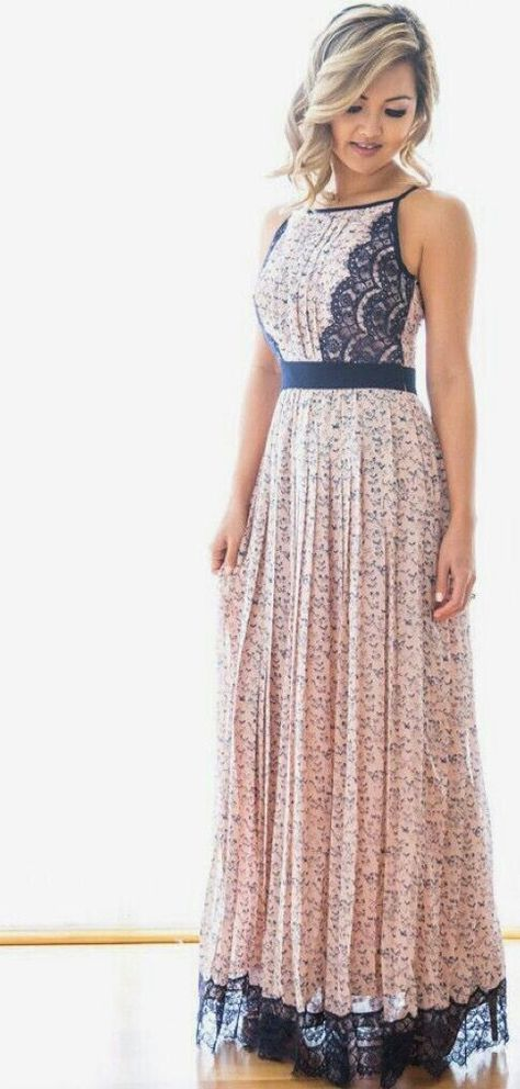 Stitch Fix Spring Fashion! Long boho maxi dress, peach ...
