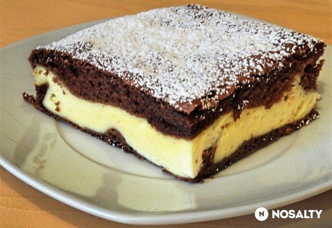 Kakaós-túrós sütemény Glaser konyhájából