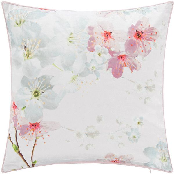 Ted Baker Oriental Blossom Bed Pillow - 45x45cm ($47) ❤ liked on Polyvore featuring home, home decor, throw pillows, pink, flower throw pillows, patterned throw pillows, pink floral throw pillows, pink toss pillows and flower home decor