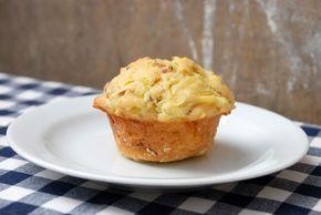 Bramborové muffiny se šunkou a pórkem