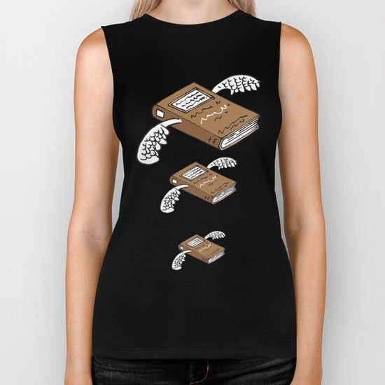 Books can give you wings 2 Biker Tank