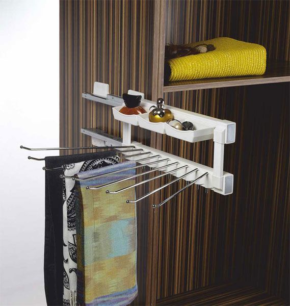 Klasse Silent Side Mounted Trouser Pull Out   Pull out clothes hanging basket Trouser and utility products pull out soft closing mechanism 35 kgs loading capacity This drawer includes the concealed runners