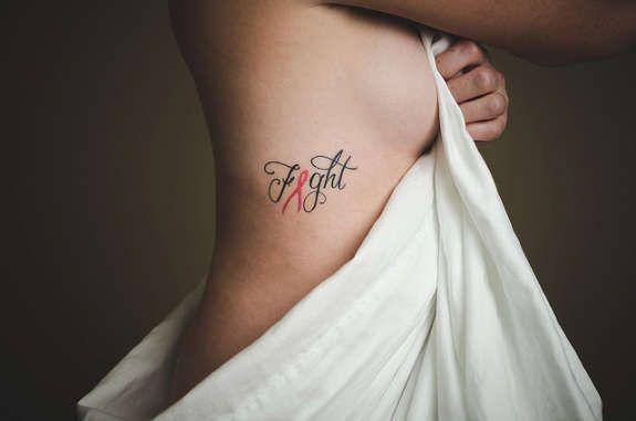 Cool Breast Cancer Ribbon Tattoos (28)