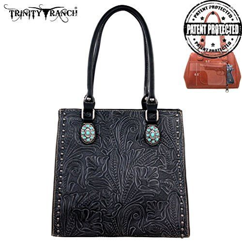TR22G-L8569 Montana West Trinity Ranch Tooled Design Concealed Handgun Collection-Black *** See this great product.