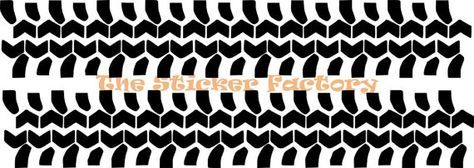 Off Road Tire Tracks Tread Vinyl Decal Wall by TheStickerFactory