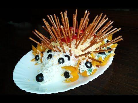 ▶ Салат Ежик ко Дню Рождения | Лучший рецепт 2014 Красивое оформление салатов - YouTube