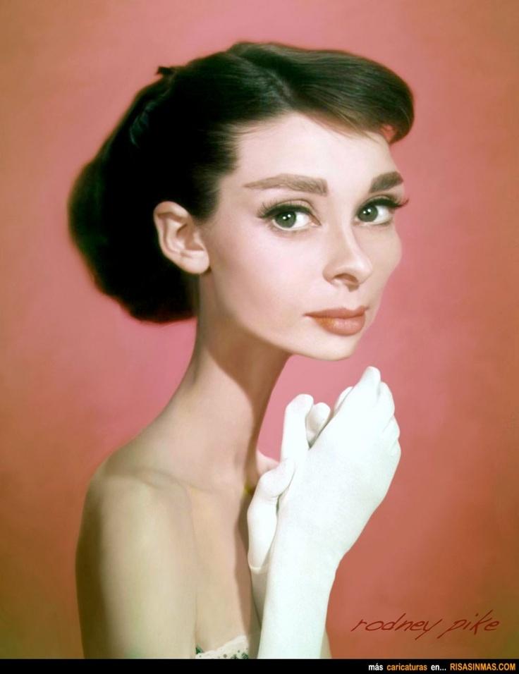 Caricatura de Audrey Hepburn.