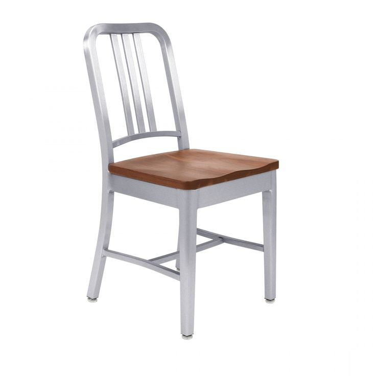 NAVY® CHAIR WITH NATURAL WOOD SEAT  1104