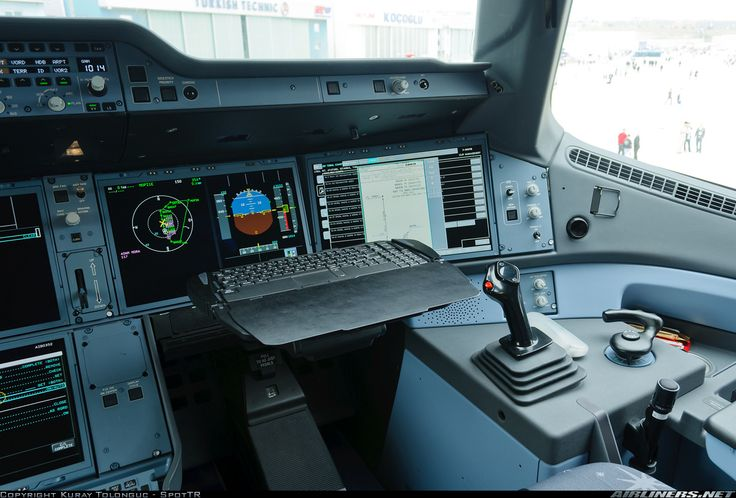 Glass Cockpit. Latest technology. Airbus A350-941