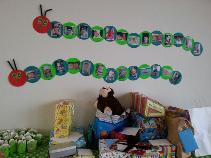 Photo time line and gift table