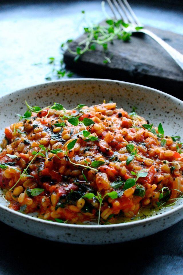 Perlebyg risotto med tomat og parmesan | Julie Karla | Bloglovin'