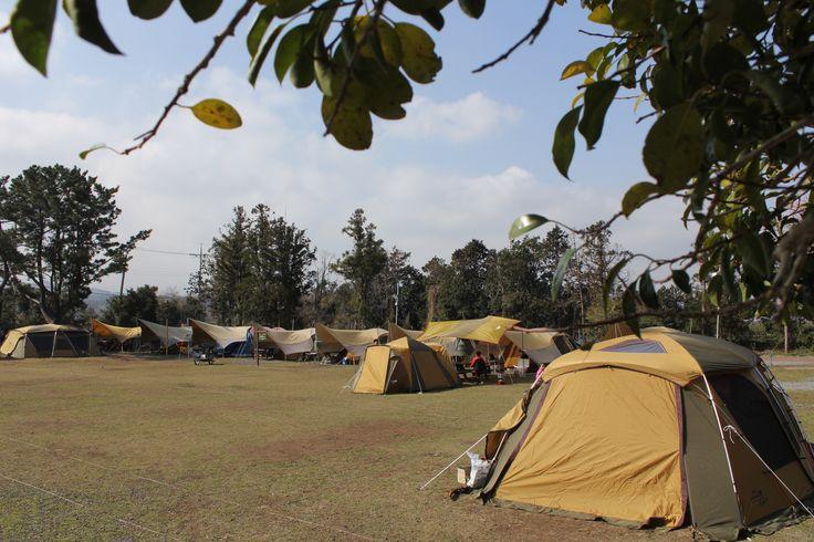 삼무 야영장은 초등학교 폐교를  활용한 캠핑장