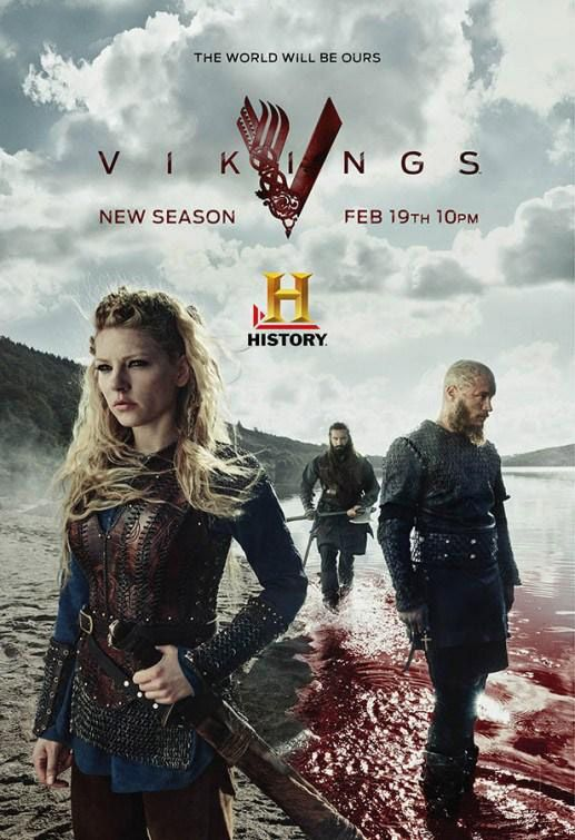 Vikings, saison 3 - Le poster avec Lagertha, Ragnar et Rollo