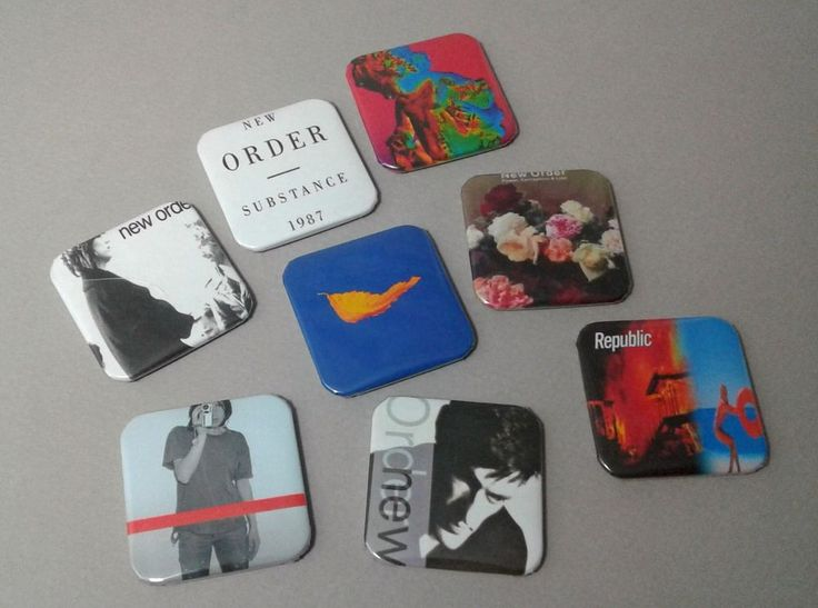 """New Order : 80's Music : 1.5"""" Pinback Button : Badge Pins : True Faith : Buttons"""