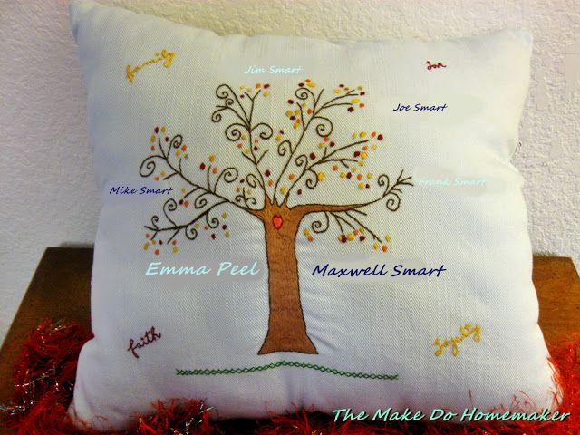 DIY Christmas 2016 Gift One:  A Family Tree Pillow