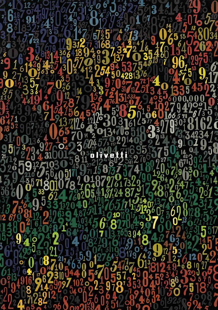 "Giovanni Pintori Poster Olivetti ""Numbers"""