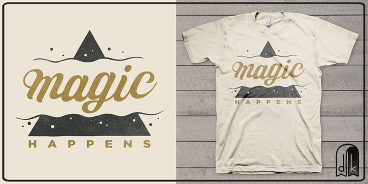 """""""Magic"""" t-shirt design by deekin"""