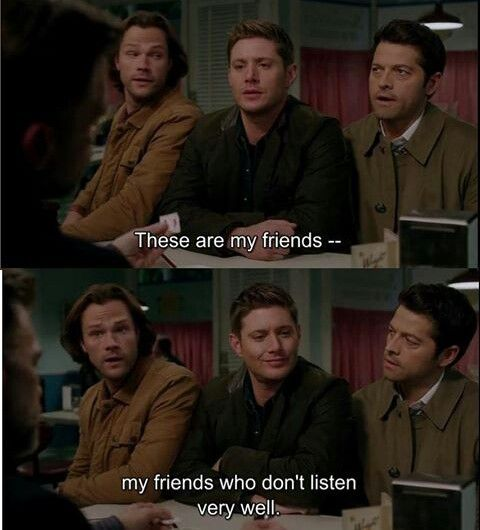 Gotta love them though. And Dean's little smirk.