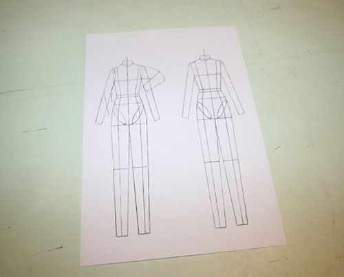 View step details for the sewing technique Figurine for Technical Drawing on BurdaStyle.