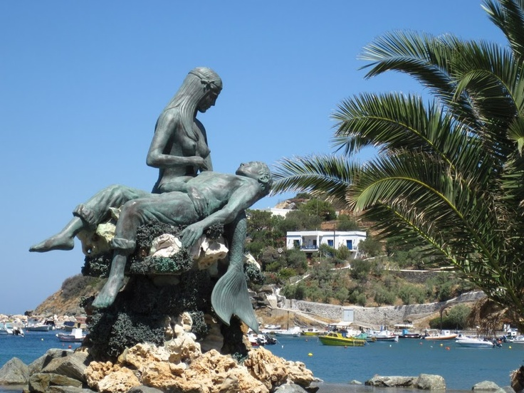 Mermaid statue, Kini #syros