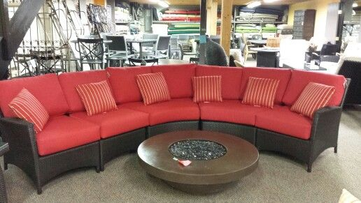 Palm Harbor rounded sectional; endless possibilities by Ratana Outdoor