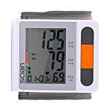 iClight scian Digitales Handgelenk-Blutdruckmessgerät Blutdruck messen für Handgelenk LCD Display IHB und WHO Indikator 90x2 Speicher für 2 Benutzer Manschette