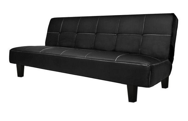 Divano Letto Bianco Ecopelle : Divano letto federica 180x97x36 in ecopelle nero 3 posti reclinabile
