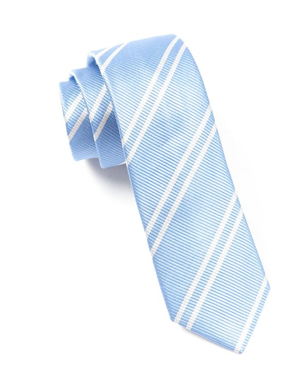 DOUBLE STRIPE - CAROLINA BLUE | Ties, Bow Ties, and Pocket Squares | The Tie Bar