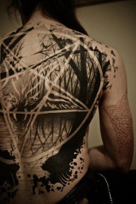 love satan tattoo