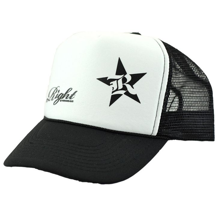 Right Eyewear - White Mesh Hat - Trucker Hats for Men, Trucker Hats for Women, Trucker Hats for Girls
