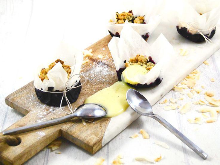 Blåbärspaj med havregryn & kokos