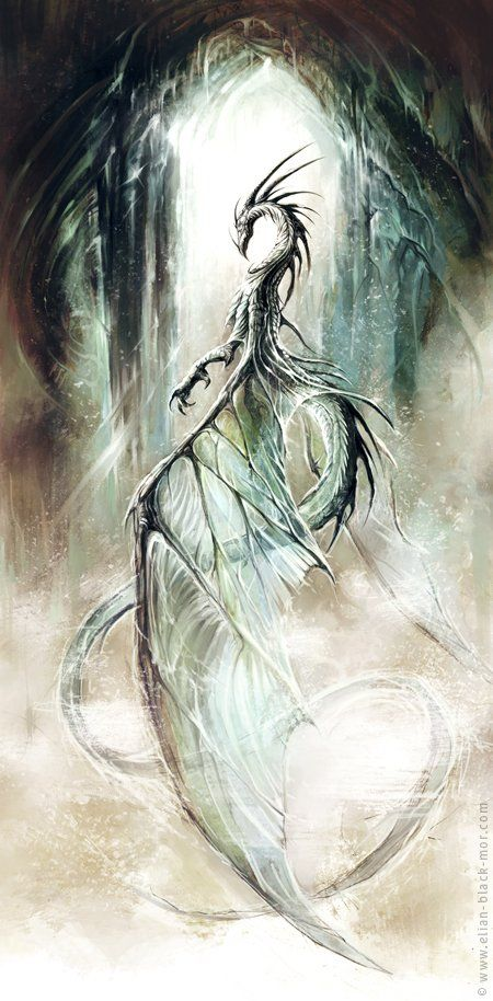 Elian Black'Mor... | Kai Fine Art ----------- there's something ghostly about this dragon . . .