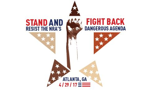 """The extremist leadership of the NRA is pushing its dangerous agenda all over the country. And on April 29, Wayne La Pierre and other gun lobby leaders will bring their radical """"guns everywhere, for anyone"""" message to Atlanta, Georgia during the NRA's Annual Meeting.    Sorry, Wayne. We'll be there too. Ready to stand up.    Join us to Stand and Fight Back"""