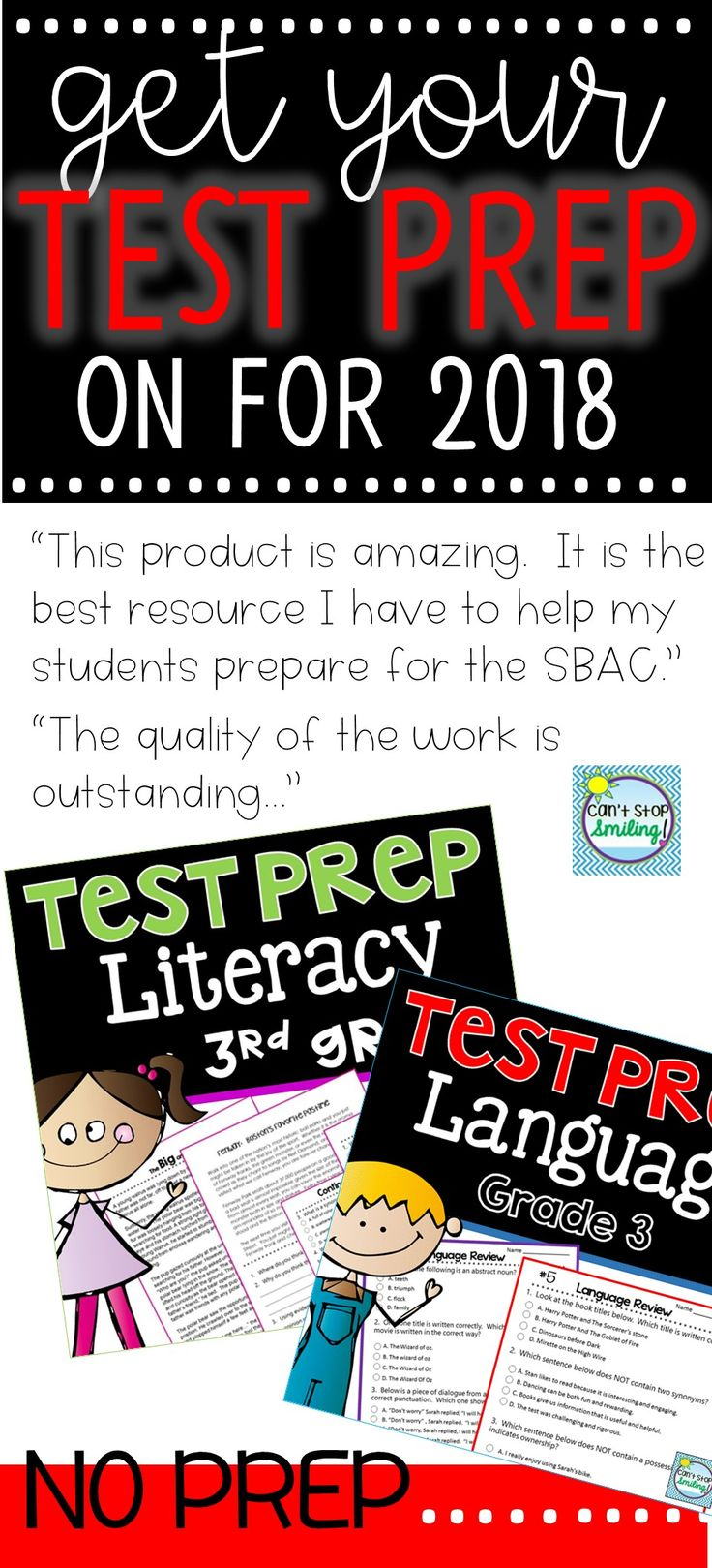 "3rd Grade Test Prep resource focused on Literacy with rigor... ""PERFECT...I'm obsessed with how great this was..."""